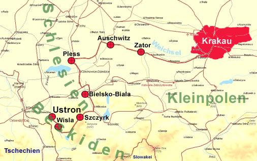 Auschwitz Karte.Motorradtour Polen Slowakei Tschechien 2004