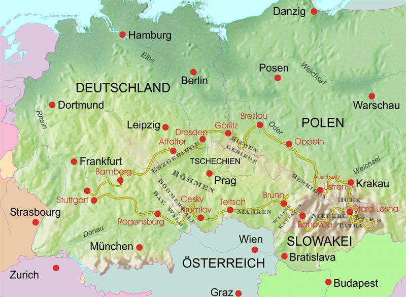 Tour Polen Slowakei Tschechien