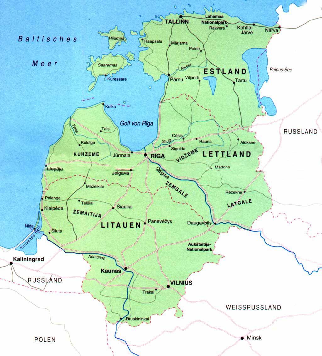baltische staaten karte Baltikum Karte baltische staaten karte